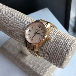 Fossil Justine 3Hand Stainless Rose Gold Watch